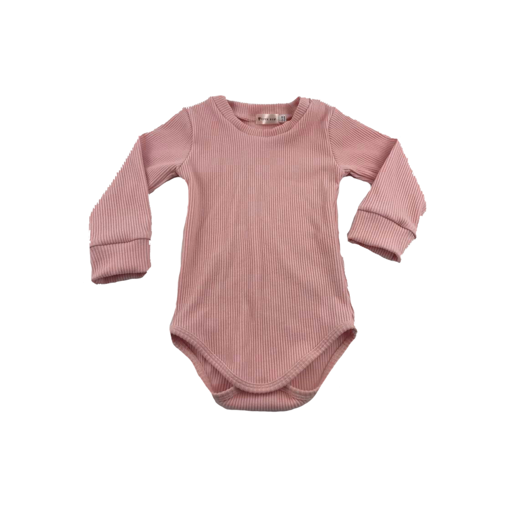 Rose // Long Sleeved Ribbed Romper