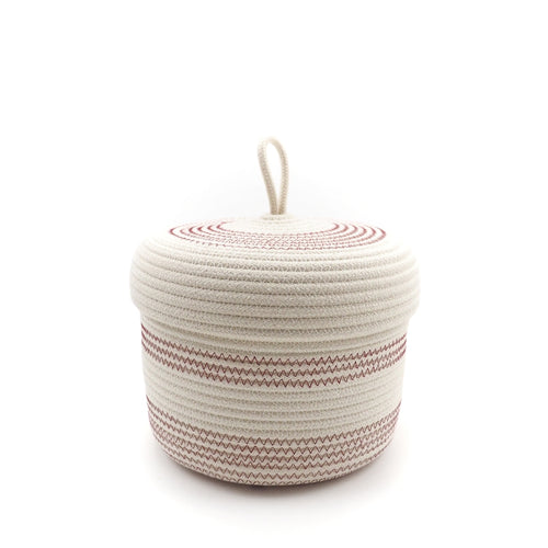 Lidded Basket Bordeaux