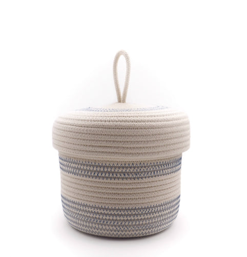 Lidded Basket Blue