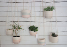 Load image into Gallery viewer, Hanging planters Shades of Grey