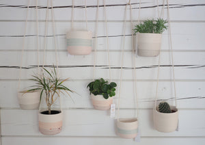 Hanging planters Shades of Grey
