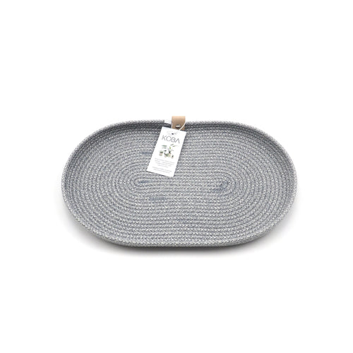 Oval Plate Pastel Grey