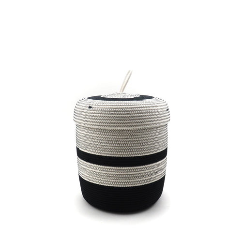 Lidded Basket Black & White
