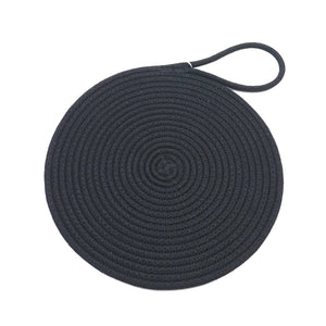 Pan Coaster Black Rope