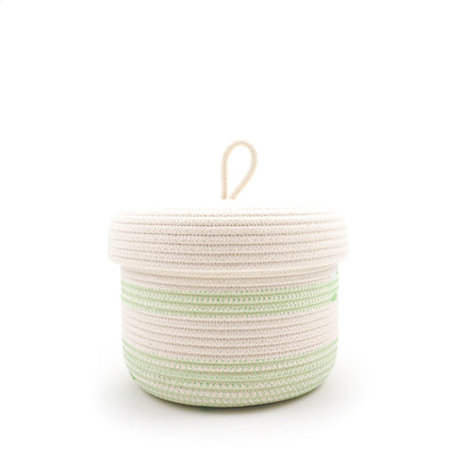 Lidded Basket Green