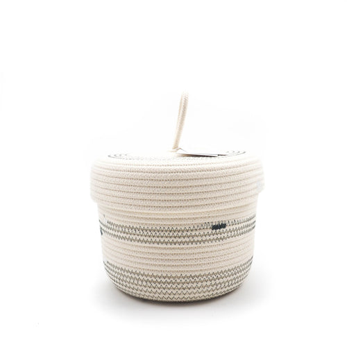 Lidded Basket Grey