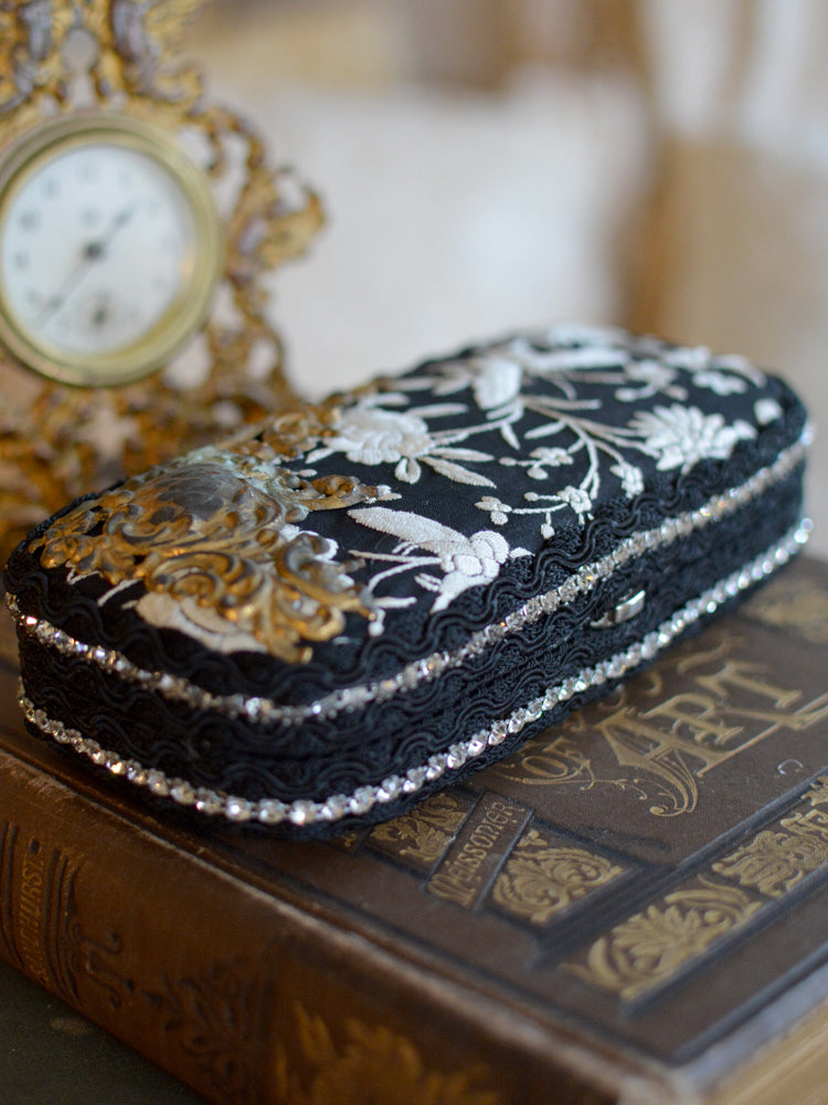 Black with Cream Minaudiere