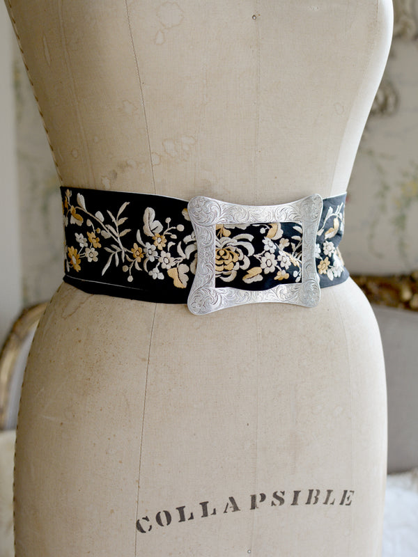 Sterling Silver & Black Mucha Belt