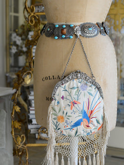 Cream with Birds Chatelaine