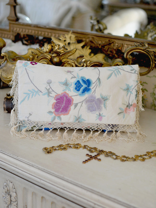 Cream with Lavender Clutch
