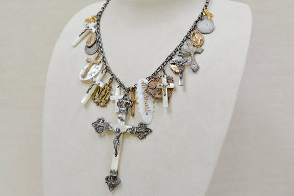 Mother-of-Pearl Talisman Necklace