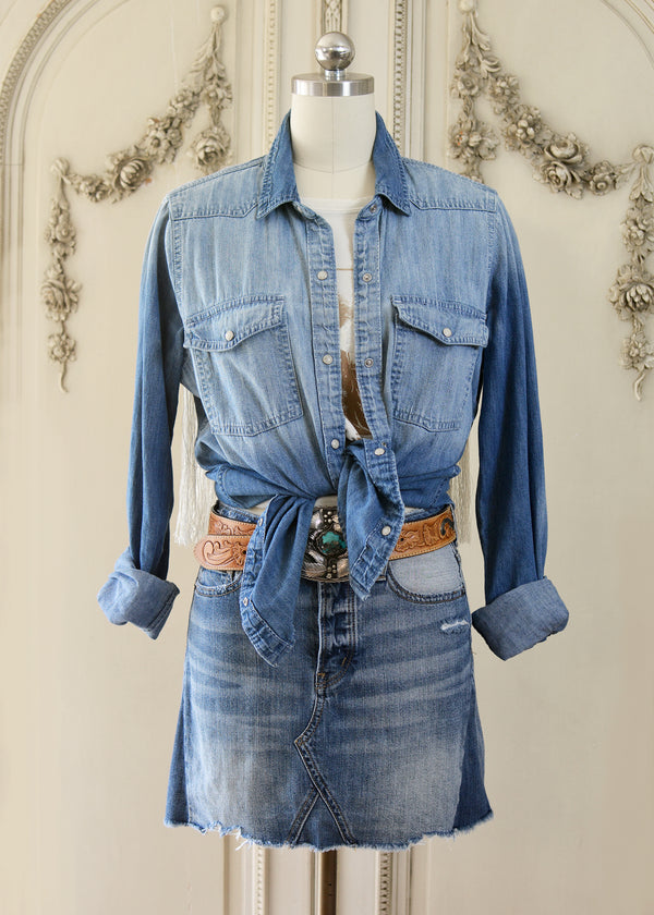 DAISY DENIM SHIRT-103-527