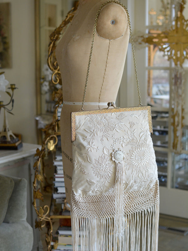 Cream & Gold Elizabeth Purse