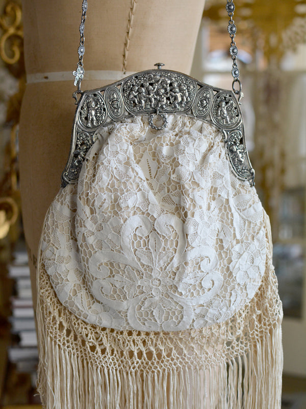 Cream Lace Elizabeth Purse