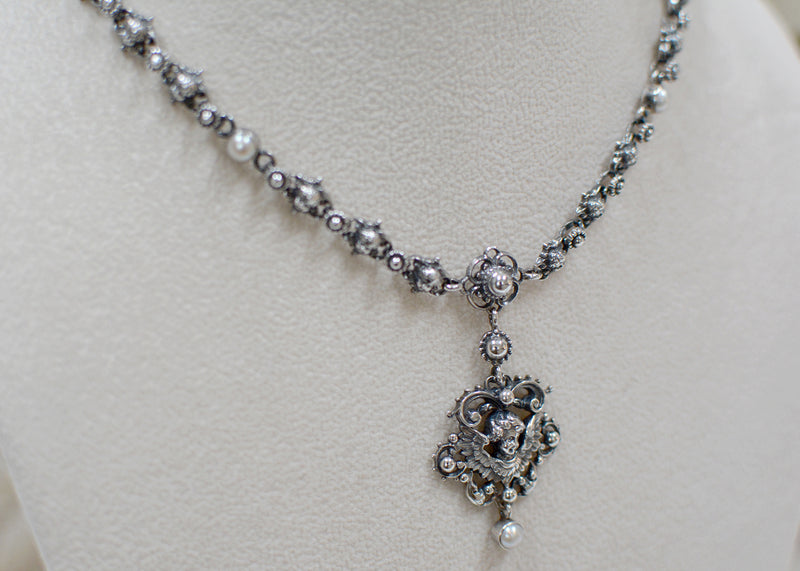 Baroque Angel Necklace with Freshwater Pearls