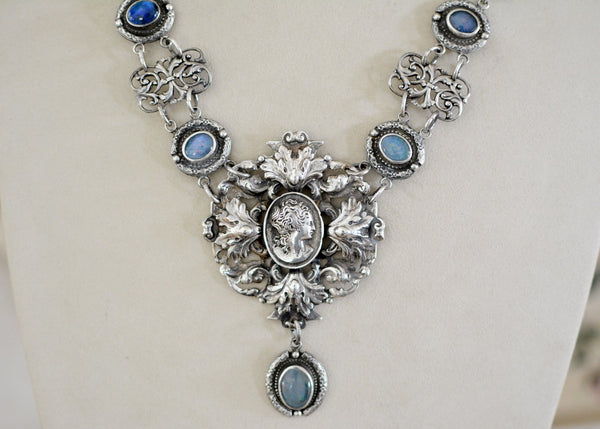 Rococo Goddess of Life Lingerie Necklace with Australian Opals
