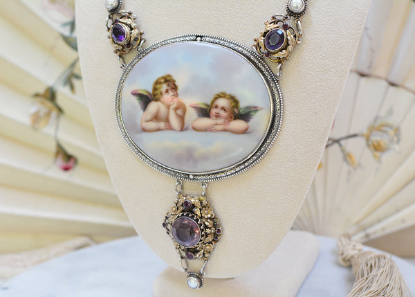 Raphael's Angels Portrait Necklace