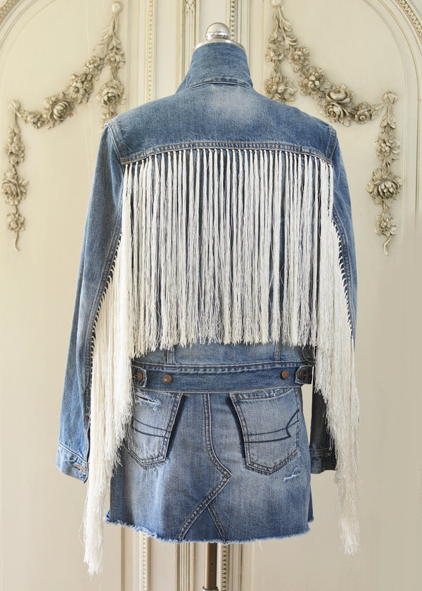 REESE FRINGED DENIM JACKET-105-529