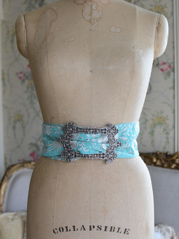 Sterling Silver & Robin's Egg Blue Mucha Belt