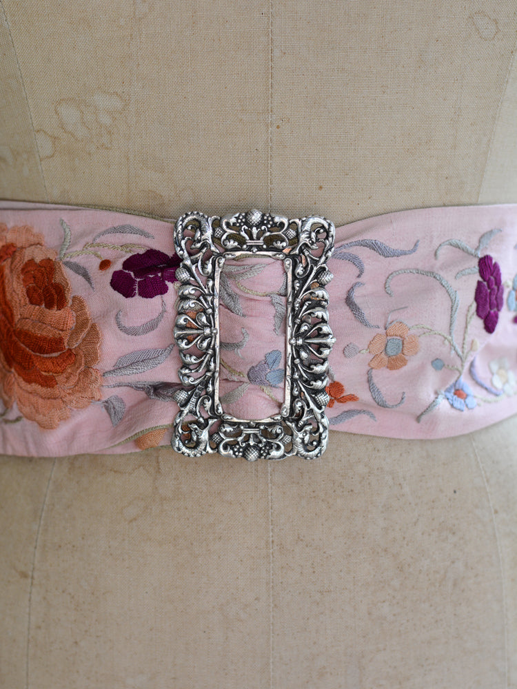 Sterling Silver & Rose Pink Mucha Belt