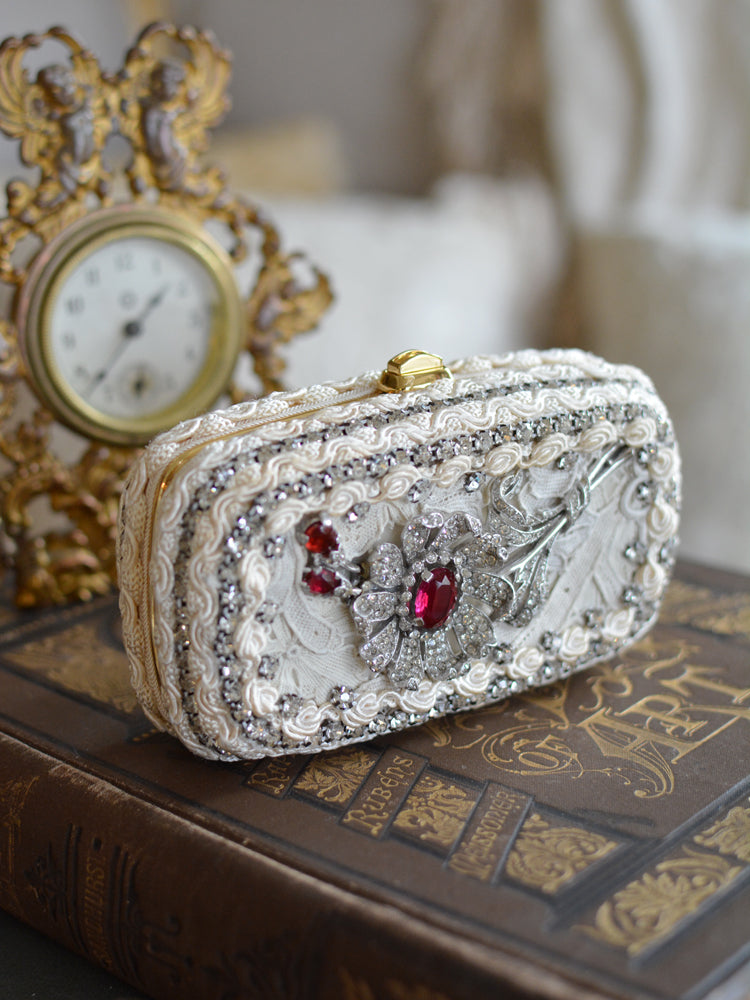 Ruby French Paste Minaudiere