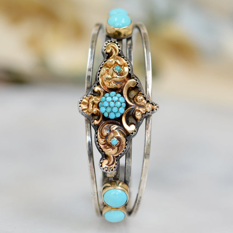 Persian Turquoise Cuff Bracelet
