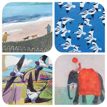 Load image into Gallery viewer, Assortment of animal and bird art cards