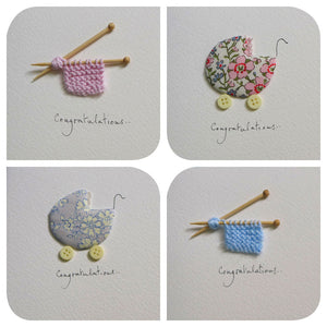 Assortment of new baby handmade cards