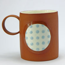 Load image into Gallery viewer, SALE Large mug pale blue spots