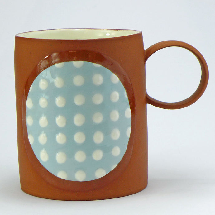 SALE Large mug pale blue spots