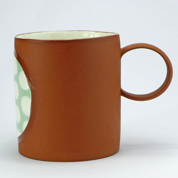 SALE Large mug green spots