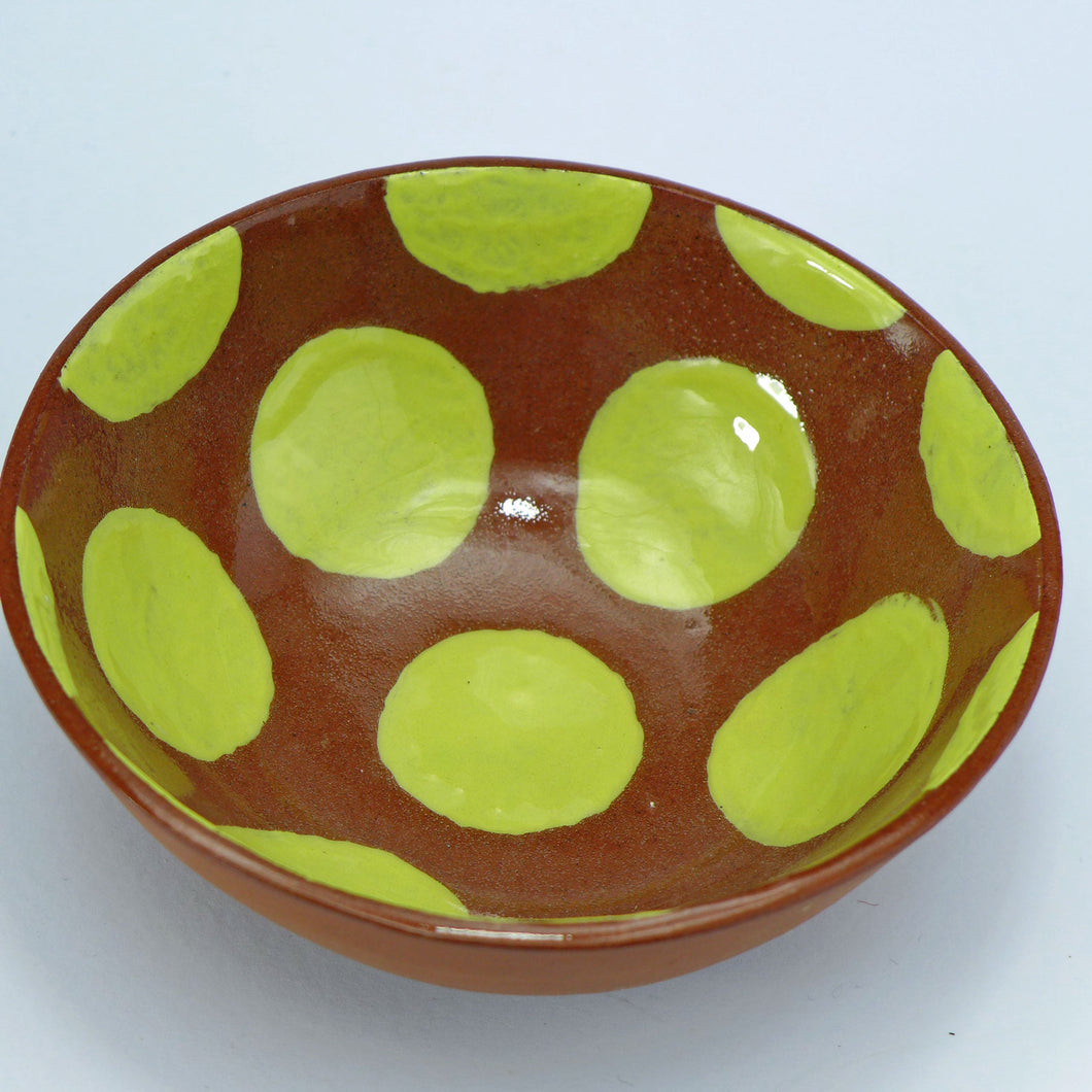 Small bowl yellow spots