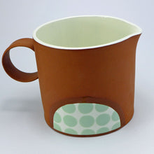 Load image into Gallery viewer, Large jug pale green spots