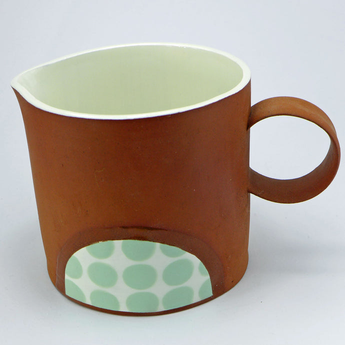 SALE Large jug pale green spots