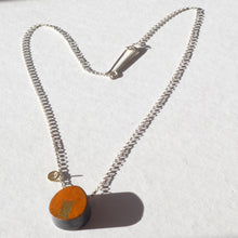 Load image into Gallery viewer, Chunky Orange Enamel Pendant
