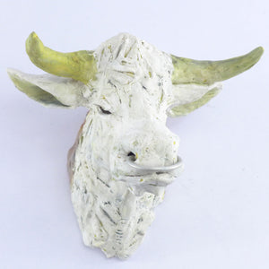 Ceramic wall hanging bull head