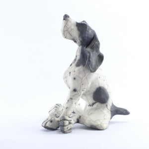 Ceramic sitting dog