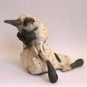 Ceramic washing cat