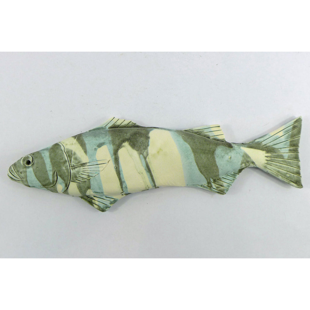Ceramic wall hanging bass