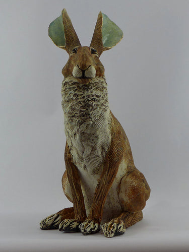 Large sitting hare with gold lustre