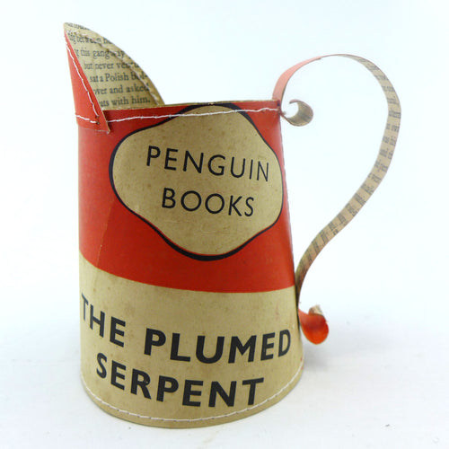 Penguin books hand stitched small jug DHL Plumed Serpent