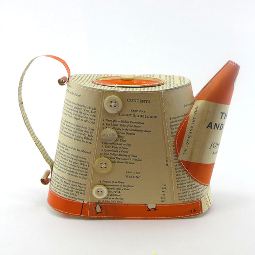 Penguin books hand stitched teapot