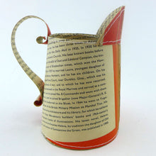 Load image into Gallery viewer, Penguin books hand stitched small jug Evelyn Waugh