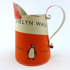 Penguin books hand stitched small jug Evelyn Waugh