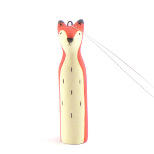 Ceramic fox hanging