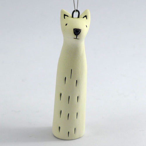 Ceramic polar bear hanging