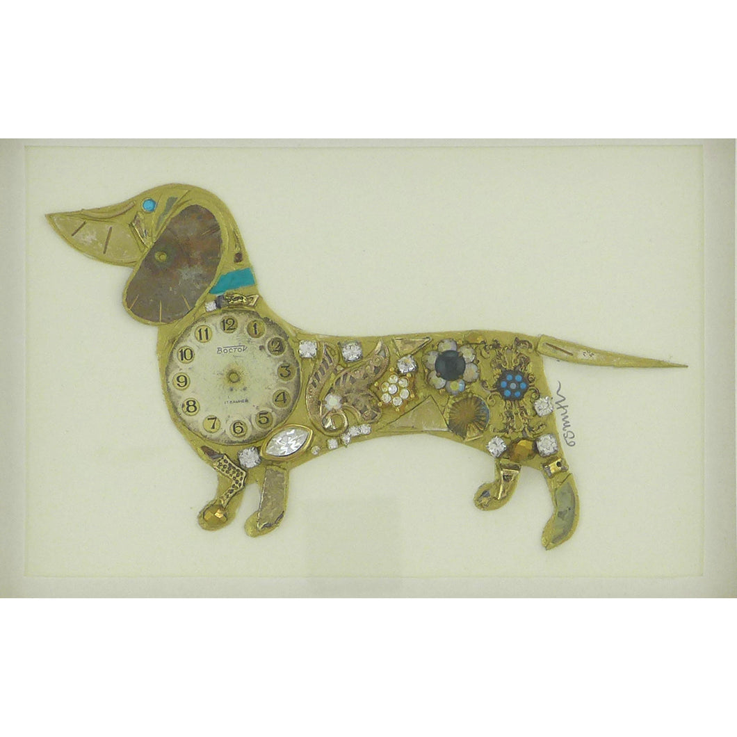 Golden watch dachshund