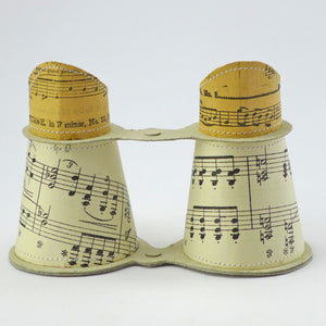 Binoculars using sheet music