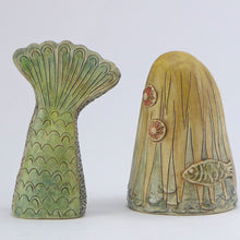 Load image into Gallery viewer, Ceramic mermaid with her tail - blonde