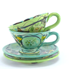 Load image into Gallery viewer, Aqua cup and saucer